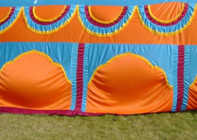 colored tent
