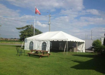a white tent