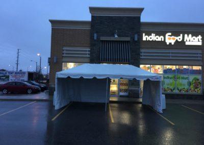 tent in front of restaurant