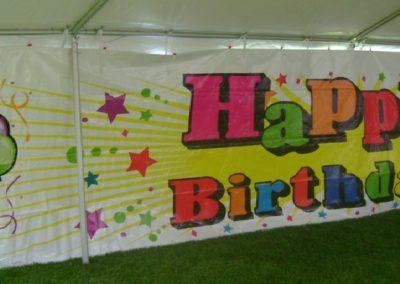 happy birthday wall screen